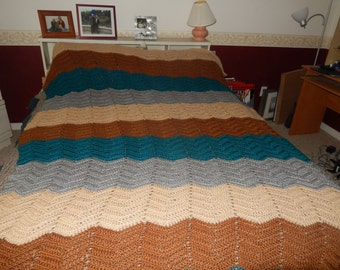 Blanket afghan for bed