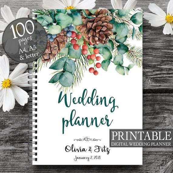 Printable wedding planner, DIY wedding planner, DIY wedding guide, PDF wedding kit, Wedding binder, Autumn wedding planner, Bridal planner