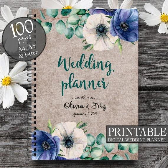 Wedding  organiser, DIY wedding planner, Printable to do list, Printable wedding binder, Eucalyptus wedding book, Wedding organizer
