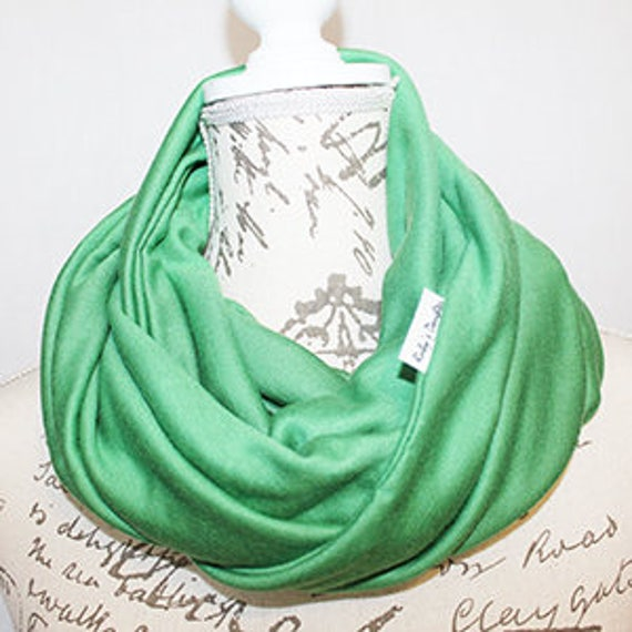 Green Holiday Tree Infinity Scarf Scarf with Hidden Pocket