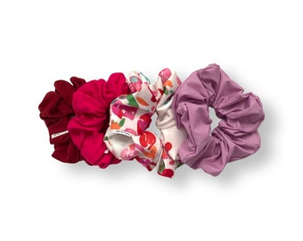 Summer scrunchies, watercolour print. Free shipping. Free gift wrapping. Buy 3 and save
