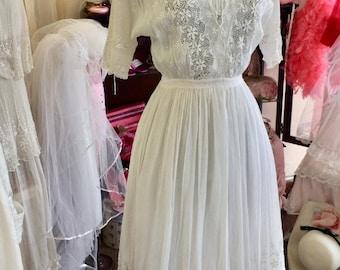 Edwardian White Vintage Dress