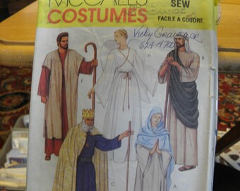 Easter Jesus Mary Joseph Angel Kings Shepherd Size Large 1990s McCall/'s 2339 UNCUT Sewing Pattern Adult Costumes Passion Play Christmas