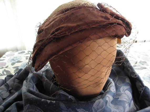Vintage Ladies hat, 1930s, 1940s, off white,struc… - image 1