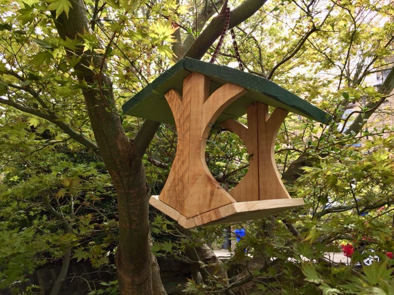 Bird Feeder Hanging Bird Feeder Handmade Bird Feeder Bespoke Rustic Bird Feeder Garden Gift Bird Feeder Bird Table Wooden Bird Feeder