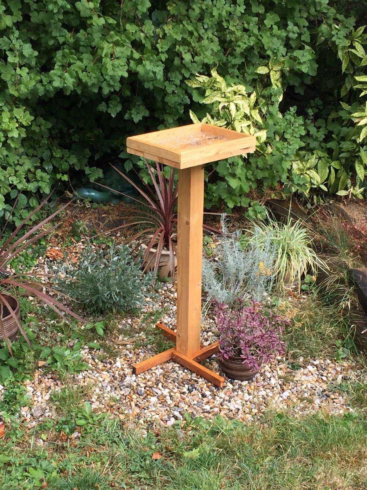 Bird Table Wooden Bird Table Garden Bird Table Standing Bird Table Rustic Bird Table Garden Feeder Bird Feeder Wooden Bird Table