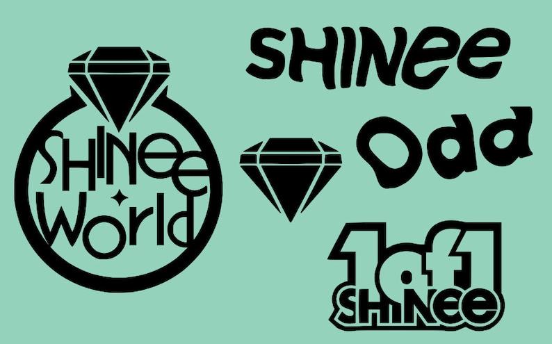 FREE Photo, SHINEE Album Logo Decals, SHINee Decals