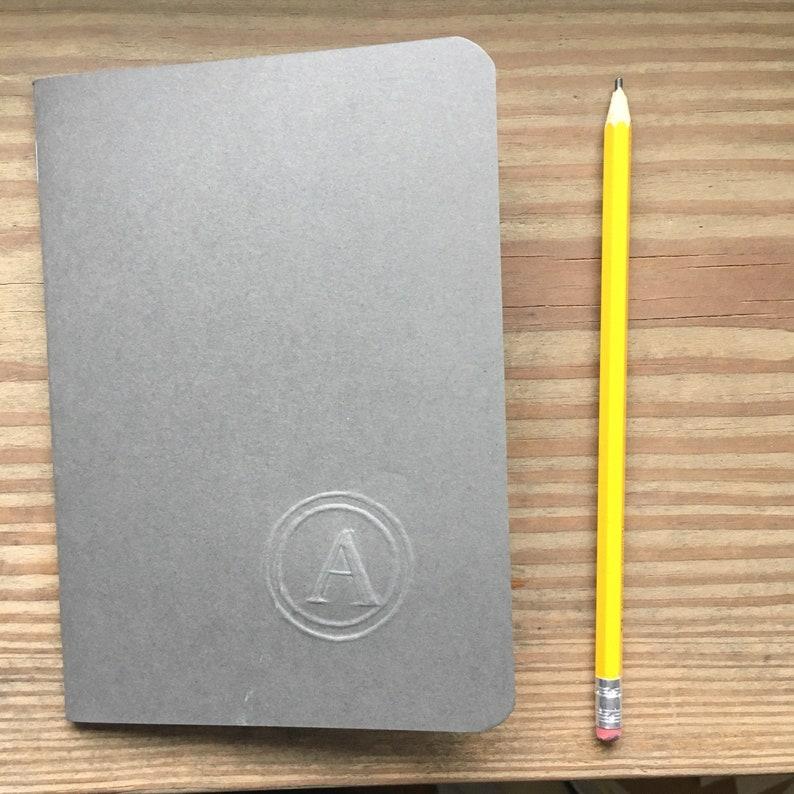 Hand-made journal monogram black please specify letter