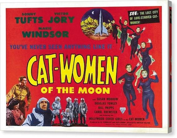 Art Print Poster Canvas Cat Woman # 7