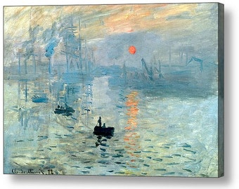 """Claude Monet """"Sunrise 1872"""" Canvas Box Art or Photo Print A4, A3, A2, A1 ++"""
