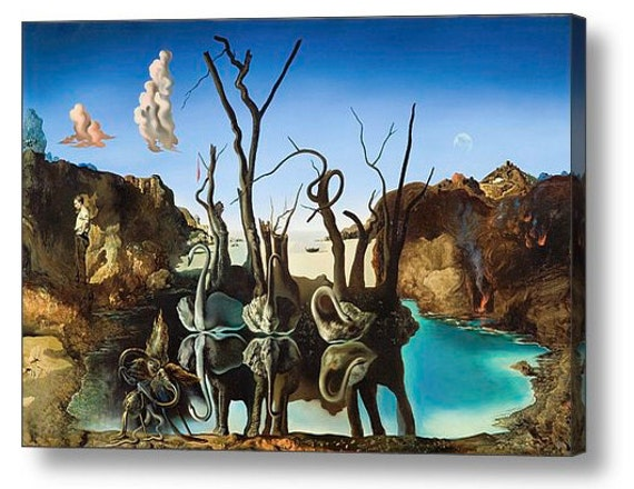 Poster Canvas Art print A4 A3 A2 A1 Dream Caused by the Flight Salvador Dali