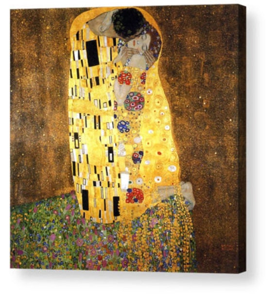 Gustav Klimt The Kiss Painting Poster Fine Art Re-Print A3 A4