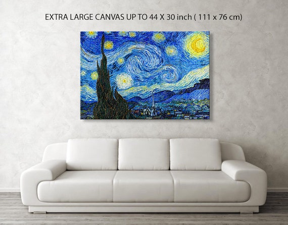 Starry Night Van Gogh Canvas Art Print A1 Picture