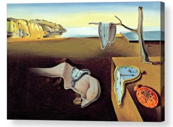 """by Dali  14/""""  Paper Print Repro The Disintegration of the Persistence of.."""