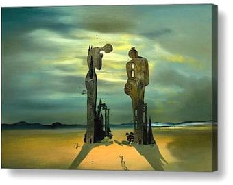 "Salvador Dali ""Reminiscence Archeological"" Repro Canvas Box Art A4, A3, A2, A1"