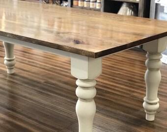 Farmhouse Table, Farm Table, Wooden Dining Room Table, Rustic Kitchen Table,  Large Farmhouse Table, Long Farm Table, Hickory Table