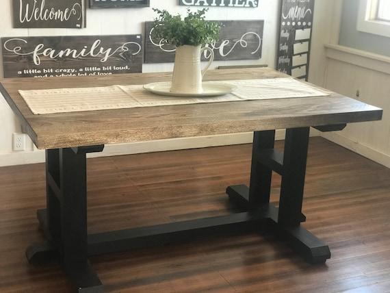Farmhouse Table, Farm Table, Wooden Dining Room Table, Rustic Kitchen  Table, Small Farmhouse Table, Small Farm Table, Hackberry Table