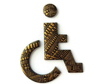 Disabled Restroom Sign, Accessible Bathroom Door Sign, Wheelchair Accessible Toilet Sign