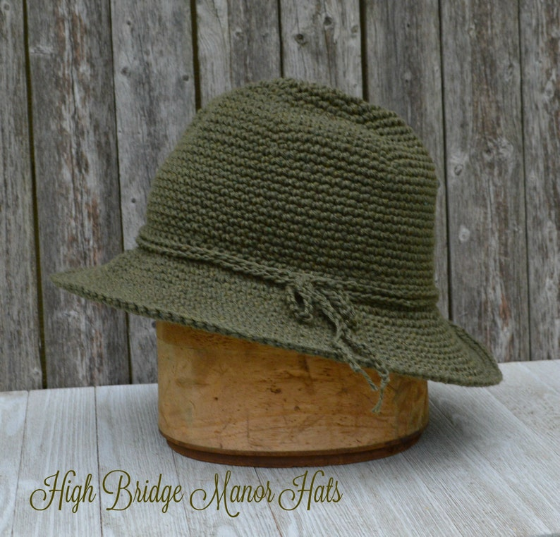 Wide brim sun hat cotton dark olive sunhat walking hat  78e3a661d98d