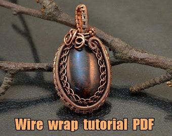 Wire wrap tutorial - PDF. Wire Wrap Pendant