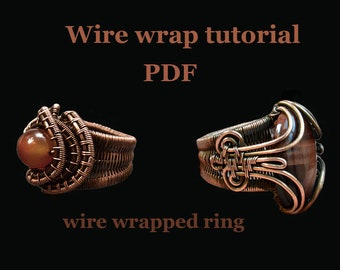 Wire wrap tutorial PDF. Wire wrapped ring.