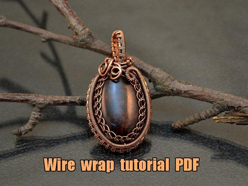 Wire wrap tutorial  PDF. Wire Wrap Pendant image 0