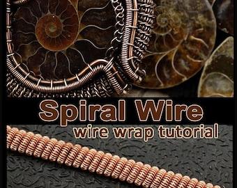Wire wrap tutorial PDF - spiral.