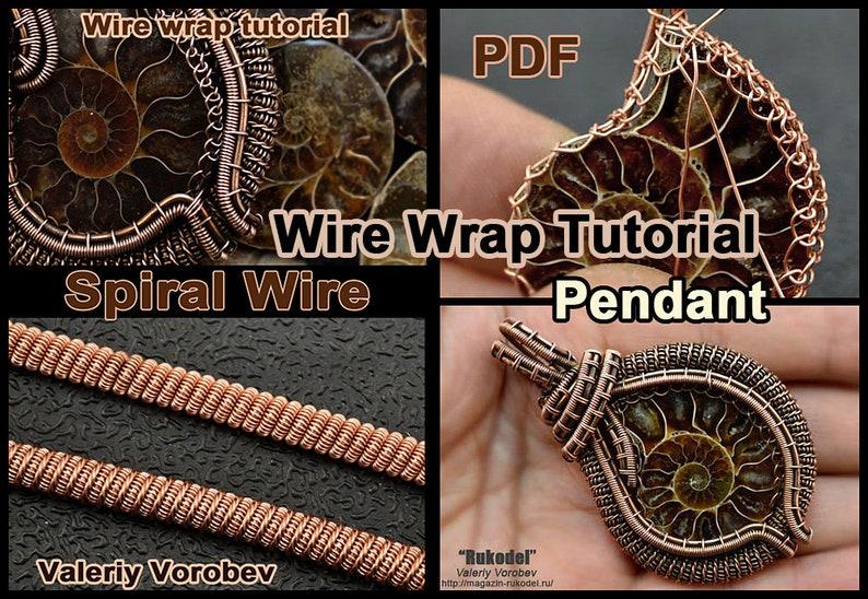 2 Wire Wrap Tutorials PDF:  Ammonite fossil slice Madagascar. image 0