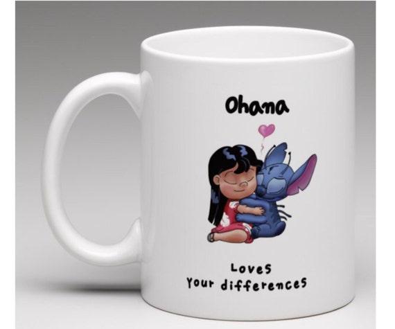 Lilo y stitch dibujado a mano Ooak café taza taza de té
