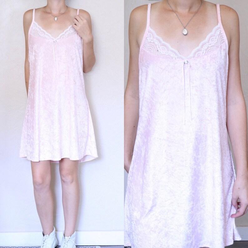 a881ac1a9298 Velvet Nightgown Light Pink Dress Velvet Pajamas Crushed