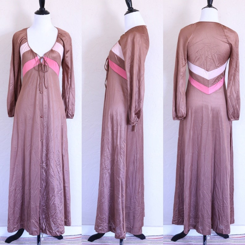 1ca0fab57b7 Long Sleeve Nightgown Button Up Nightgown Romantic Nightgown