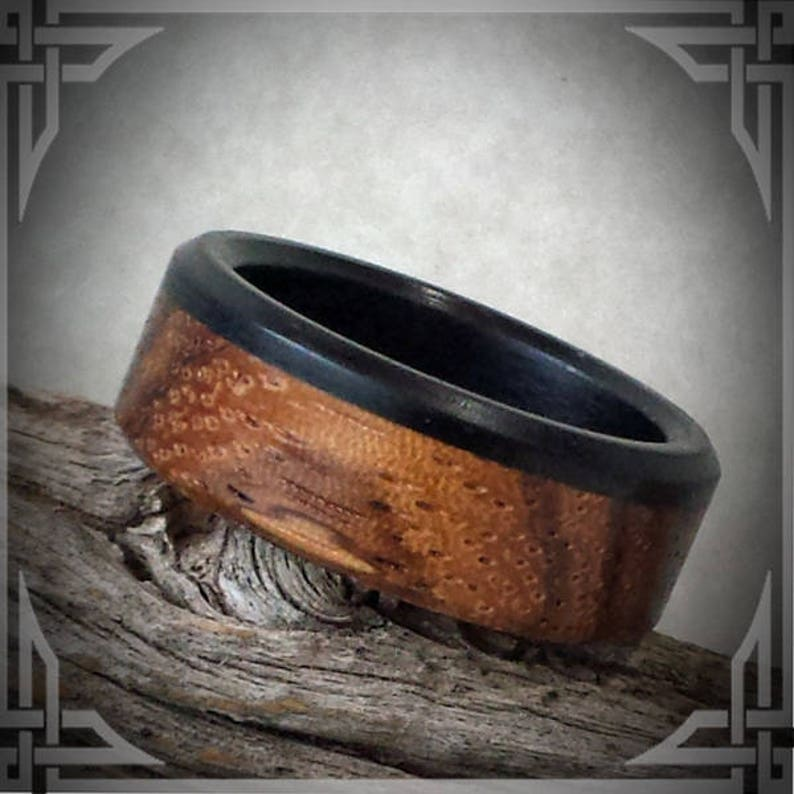 Any Occasion. Wedding Bands Zebra and Ebony Wood Custom Jewelry
