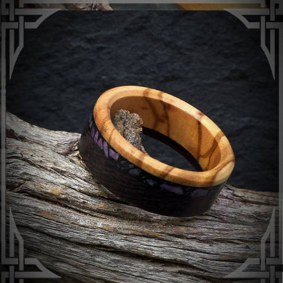B.C Maple Burl and Maple Wood inner core with B.C Wedding Bands. Light Jade Inlay in black