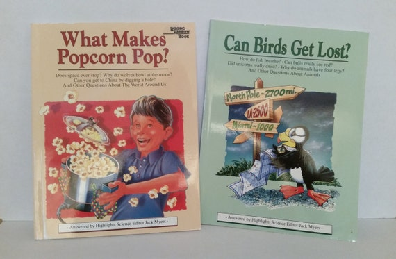 Vintage Reading Rainbow Books Set Of Two What Makes Popcorn Etsy