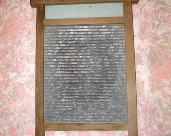 Vintage washboard. Soviet wooden metal washboard. Laundry decor, farmhouse, rustic home. Hands wash board. Antique wash board. Housewarming