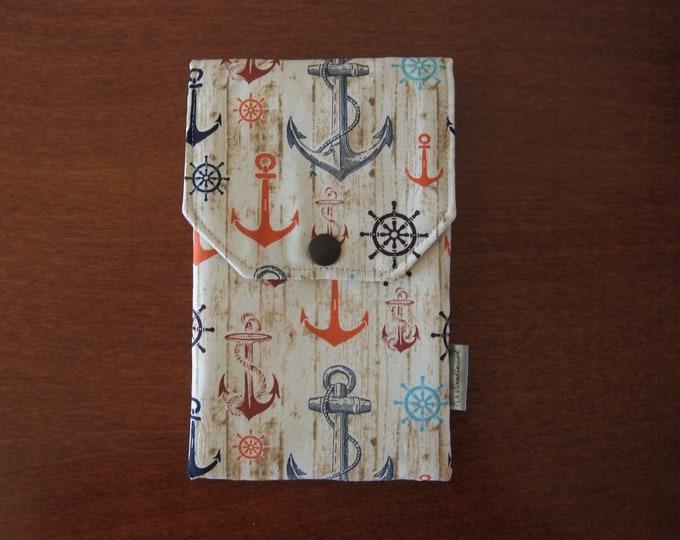 Pen case anchor cotton fabric