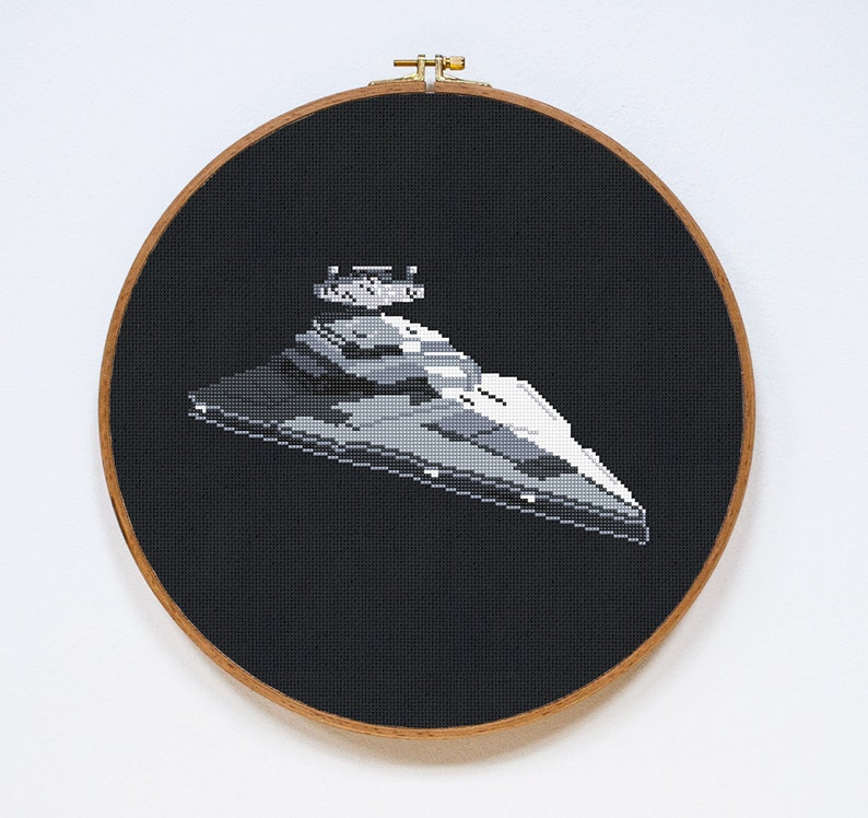 35fe998d9b3 Star Destroyer Star Wars Spaceship Cross Stitch Pattern