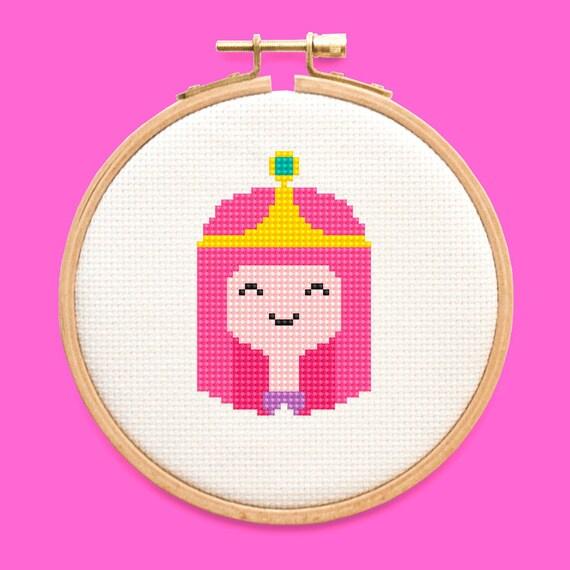 Princess Bubblegum Adventure Time Cross Stitch Pattern Easy