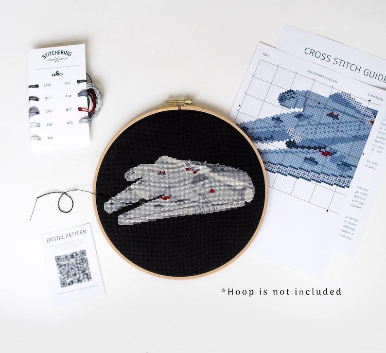 Faucon Millenium Cross Stitch Kit Faucon Millenium Star Wars Etsy