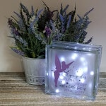 Pixie Dust Glass Block - Fairy Glass Block - Lighted Block - Nightlight - All you need is faith, trust and a little pixie dust