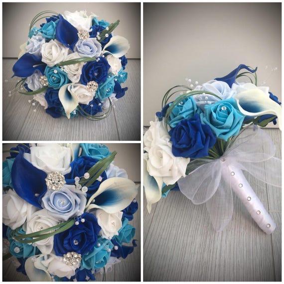Kunstliche Blumen Braut Hochzeit Blumenstrauss Calla Lily Etsy