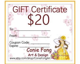 Digital Stamp, Digi Stamp, digistamp, Gift Certificate, Conie Fong