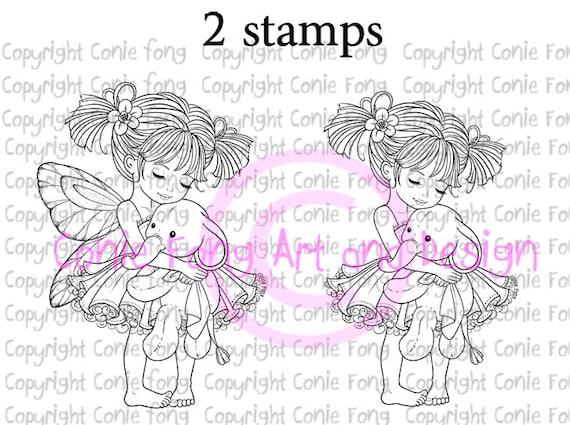 Digital Stamp Digi Digistamp Emma And Ellie By Conie