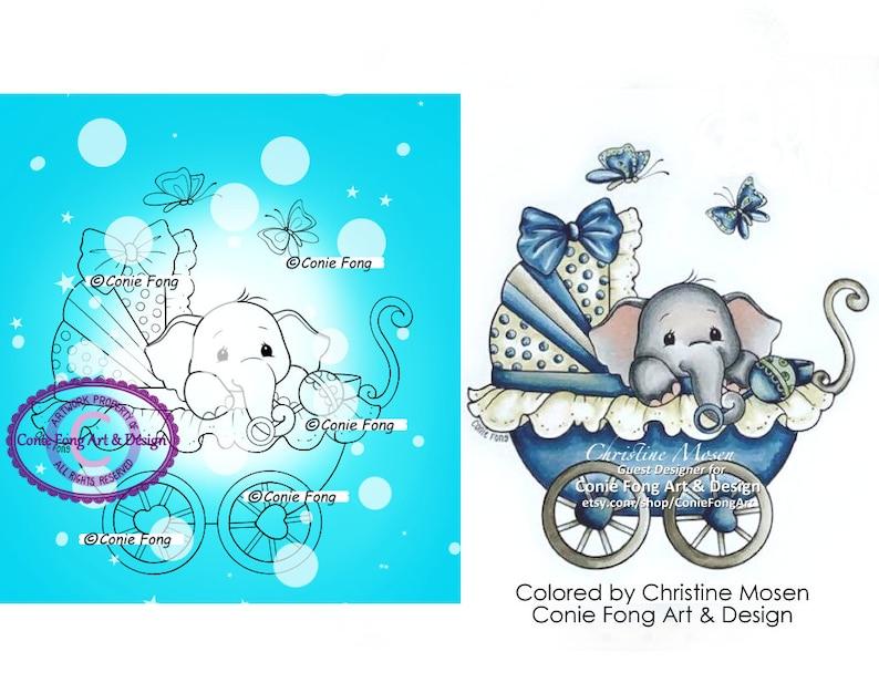 Digital Stamp Digi Stamp Digistamp Baby Ellie by Conie image 0