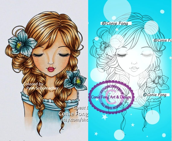 Digital Stamp Digi Stamp Digistamp Alanna By Conie Fong Etsy