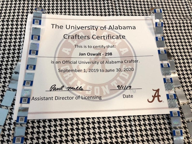 University of Alabama Scrunchies-University of Alabama Officially Licensed Crafter