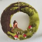 Door Wreath-Forest girl