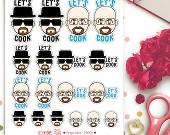 Walter White Breaking Bad Let's Cook Stickers | Planner Stickers | Heisenberg | PD054