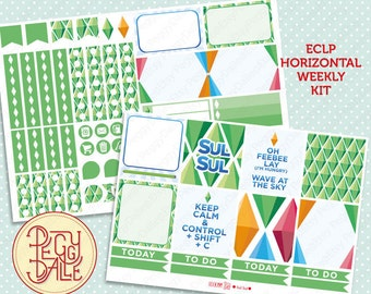 Sul Sul Weekly Kit Planner Stickers | EC Horizontal | The Sims | Video Games | Retro Gaming