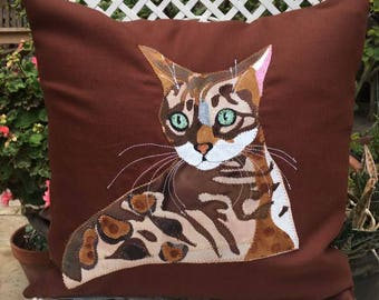 Handcrafted applique animal cushions and by Ragstostitchesdesign